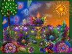 les belles couleurs du Maroc sur peinture