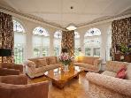 The drawing room, lots of sofas for that get together