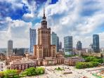 Warsaw's trademark-The Palace of Culture and Science, is 900 meters away.