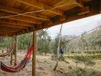 The hammocks and the view
