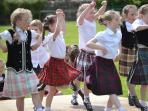 Scottish Country Dancing is still a big deal round here and they start young!
