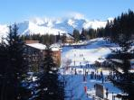 Vue sur le Mont Blanc depuis la terrasse