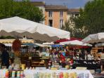 Aubagne - local market - Olives/Wine/Cheese/Pottery/Santons