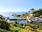 The view of picturesque Polperro from the garden of Seascape.