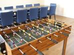 Foosball in games room