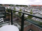 View over the marina from the bedroom
