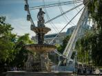 Budapest Eye at Elisabeth square, nearby