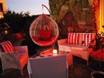 The red chillout area...Villa Priene, Gumusluk Aug 2015