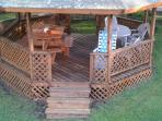 Gazebo with two tables