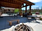 Clubhouse Common Area with Grills and Gas Fire Pit
