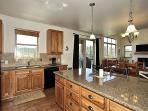 Gorgeous wood cabinets and granite counter tops