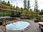 Relax after a long day in the shared hot tubs