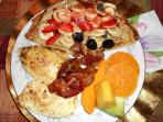 Hot Organic European or American Breakfasts are available for additional price.