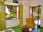 Green Room, double, view to the garden, terrace