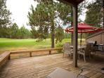 Downstairs - Large Deck with patio furniture and BBQ - sit back and enjoy the golf game