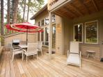 Downstairs - Large Deck with patio furniture and BBQ