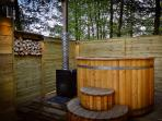Percy and Jules lodges have private hot tubs