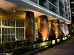 Entrance at your tower. Columns will remind you of the moais at Easter Island