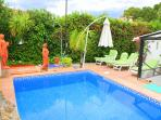 Rear view of Casa Paradiso with private pool and garden