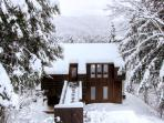 Cedar Rock Chalet in the winter