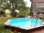 The lovely plunging pool in the large Phénix garden (4.00 wide, 1.20 deep)