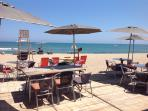 Lunch on the beach at Leucate plage.