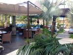 Enjoy a cocktail at the Laguna village bar