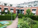 Private garden in housing estate