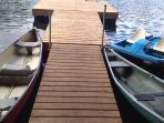 Renters can use this Dock into Fiddler Lake for swimming or using a Pedalo