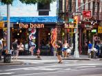 The bean - just another one of the many coffee shops in the neighborhood!