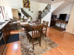 Fiurst Floor, Kitchen, Dining, TV and Living room areas