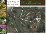 Map showing La Florentina´s location in Casa de Campo.