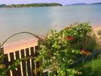 Tranquil Praia Rasa: sometimes windy. View from our private gate that opens to the beach.