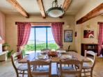 Dining room with splendid views of the sea & countryside