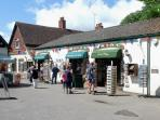 Lovely Burley village with the also lovely Fudge Shop!