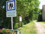 The Coulée Verte, 'Green Alley', almost 23 km of old railroad line between Amiens & Beauvais for h