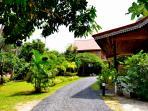 Private garden area where Tamarind  Lodge located.
