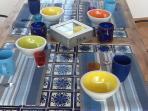 La tavola in veranda