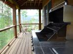 Wrap around deck with grill on main level