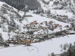 Nancroix village in winter we are next door to famous l'Ancolie restaurant