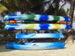 Take one of our complimentary kayaks & paddle out on the Caribbean....