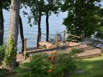 Multilevel deck with spectacular lake views! Great place for napping, relaxing and bird watching!