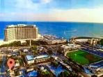 WOW LOCATION! 1 block from the beach, casinos, MGM park, shops, restaurants, etc. Can't be beat!!!