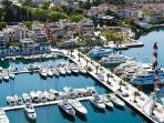 View of Porto Montenegro. Bayview Apartments Tivat Montenegro
