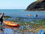 Ceibwr Bay a five minute walk perfect for water sports