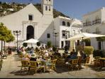 The town square of Frigiliana , 2 minutes walk from the apartment.
