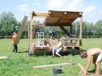 Der Bau des Ziegenausgucks