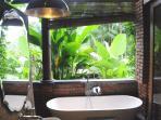 bathroom 4, shower and bath tub