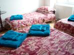 An additional child bed is 10 euros per night cash paid upon arrival in the family room only