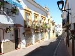 Calle Barranca: A typical tranquil street in Estepona old Town
